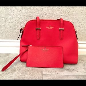 Kate Spade satchel & wristlet bundle - like new